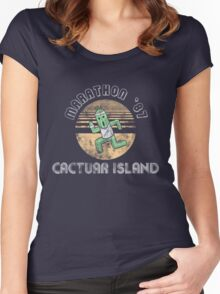 Cactuarathon- Final Fantasy Parody Women's Fitted Scoop T-Shirt