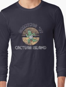 Cactuarathon- Final Fantasy Parody Long Sleeve T-Shirt