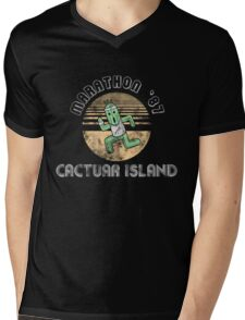 Cactuarathon- Final Fantasy Parody Mens V-Neck T-Shirt