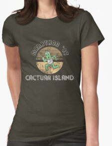 Cactuarathon- Final Fantasy Parody Womens Fitted T-Shirt