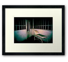 Blue asylom Framed Print