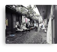 Shopping in Safranbolu. Metal Print