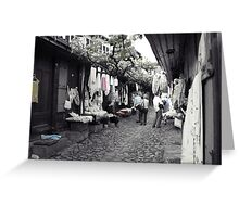 Shopping in Safranbolu. Greeting Card