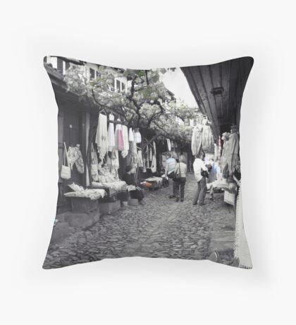 Shopping in Safranbolu. Throw Pillow