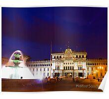 National Palace - Guatemala City Central Park Poster