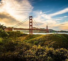 Golden Gate Sunset by wulfman65