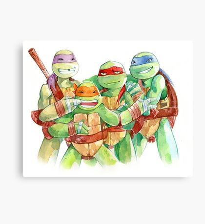 TMNT Watercolor Canvas Print