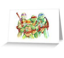 TMNT Watercolor Greeting Card