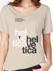 Helvetica T-Shirt - Orange Women's Relaxed Fit T-Shirt