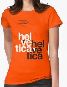 Helvetica T-Shirt - Orange Womens Fitted T-Shirt