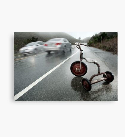 Inadequate Tools: The Tricycle Canvas Print