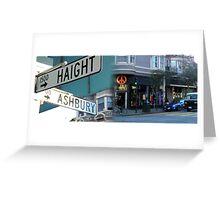 Haight Ashbury - San francisco Greeting Card