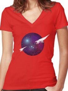 50,000 Years Women's Fitted V-Neck T-Shirt
