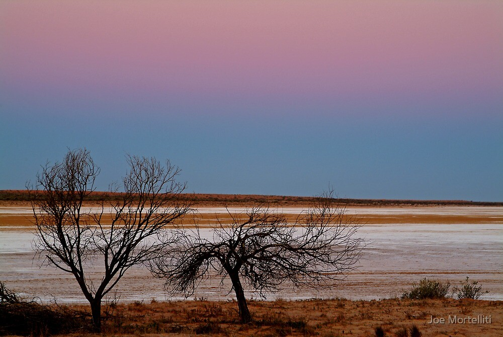 Salt Pan at Dusk, Simpson Desert by Joe Mortelliti