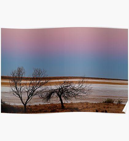 Salt Pan at Dusk, Simpson Desert Poster