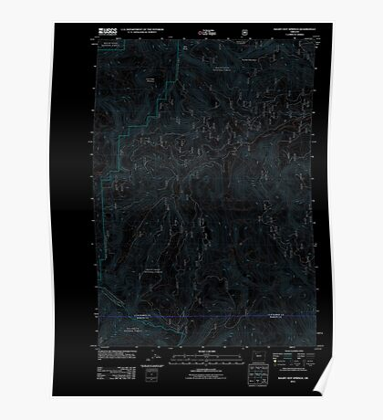 USGS Topo Map Oregon Bagby Hot Springs 20110721 TM Inverted Poster