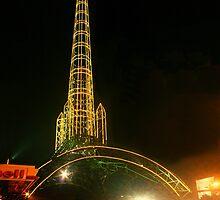 Reformador tower - Guatemala City 7ma. Avenida by Miguel Avila