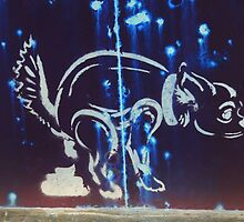 Banksy Style Maltese Dog  by ladyzaza