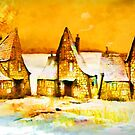 Gingerbread cottages'... by Valerie Anne Kelly