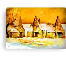 Gingerbread cottages'... Canvas Print