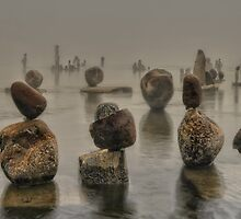 Inukshuk In The Mist by Bill Maynard