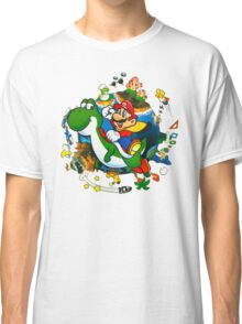 Super Mario World Planet. Classic T-Shirt