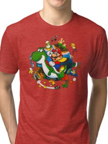 Super Mario World Planet. Tri-blend T-Shirt