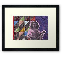 Strumming Quilt Framed Print