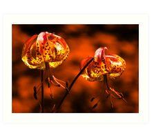 Flowers in Fire Art Print