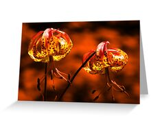Flowers in Fire Greeting Card