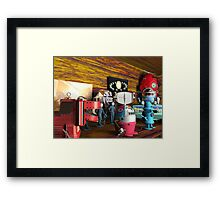 A Collection of 3D Vintage Space Toys Framed Print