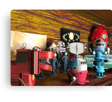 A Collection of 3D Vintage Space Toys Canvas Print