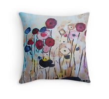 Dreamy Red & Blue Pops Throw Pillow