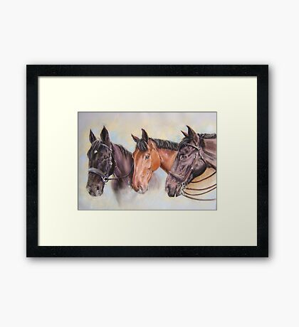 Robinsons' horses Framed Print