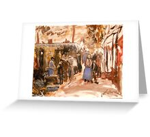 Old Market in Bordeaux 1888 Greeting Card