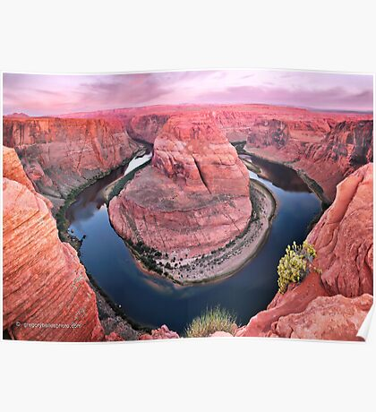 Dawn Upon Horseshoe Bend Poster