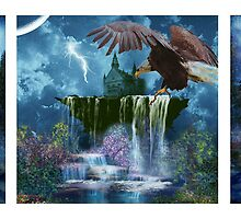 PARADISE GLORY TRIPTYCH by Tammera