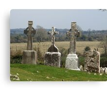 Old Irish Graveyard Canvas Print