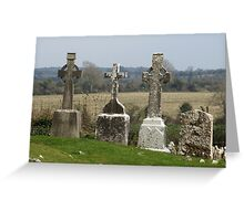 Old Irish Graveyard Greeting Card