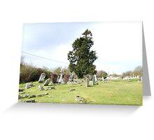 Irish Graveyard Greeting Card