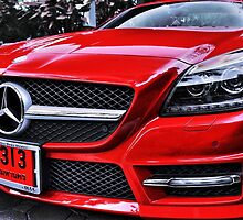 RED MERCEDES BENZ by benbdprod