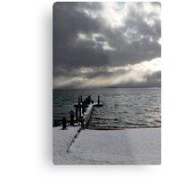 Tahoe Snowstorm Metal Print