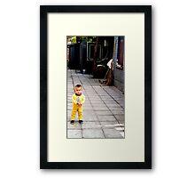 Beijing cutie Framed Print