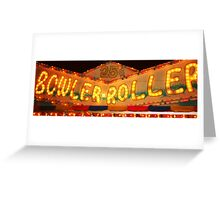 Bowler Roller Greeting Card