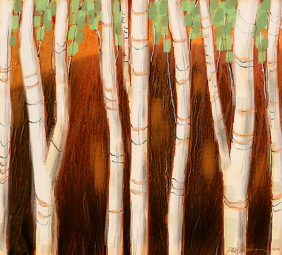 """White Forest"" by Patrice Baldwin"