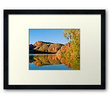 Cliffs, Argyle River, Kununurra. Kimberley. WA. Framed Print
