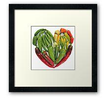 Hot Heart Framed Print