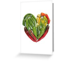 Hot Heart Greeting Card