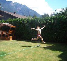 Sprinkler Joy by Lisa  Morris