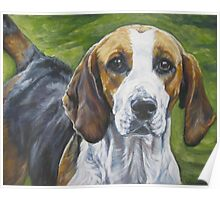 English Foxhound Fine Art Painting Poster